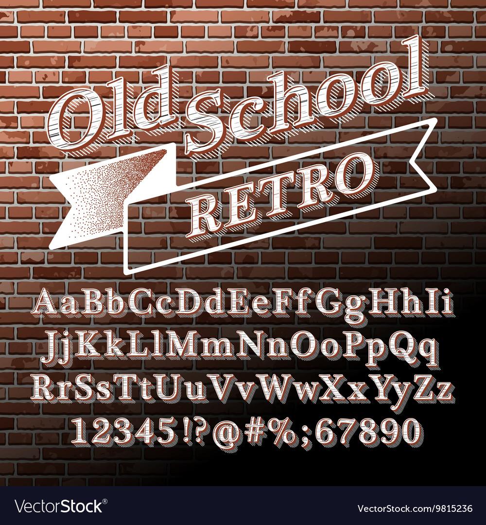 Old school Retro Alphabet