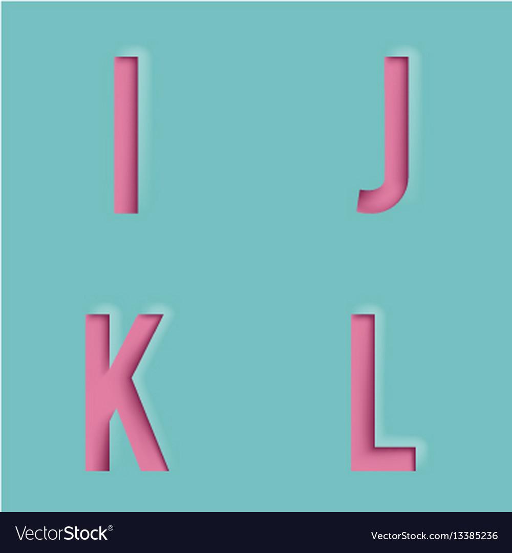 Paper Cutout Letters Realistic D Template Design Vector Image - 3d letters template