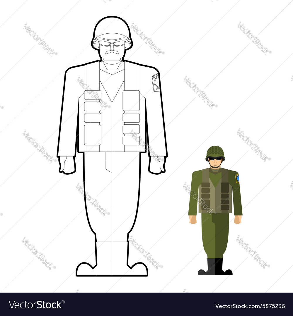 Soldiers coloring book Military clothing helmet