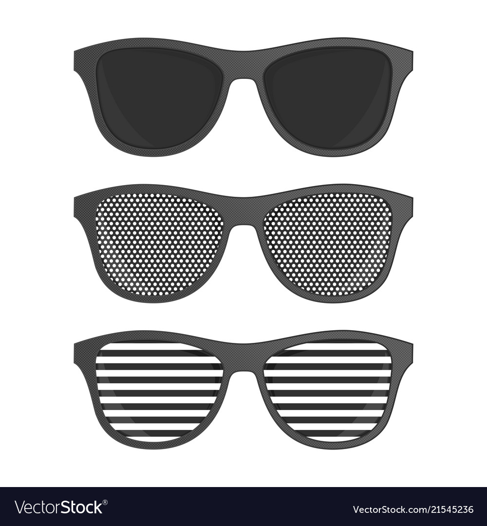 Striped perforation sunglasses