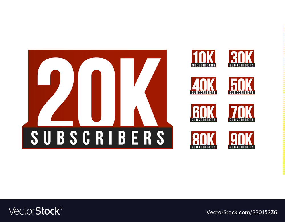 Subscribers number icon set anniversary