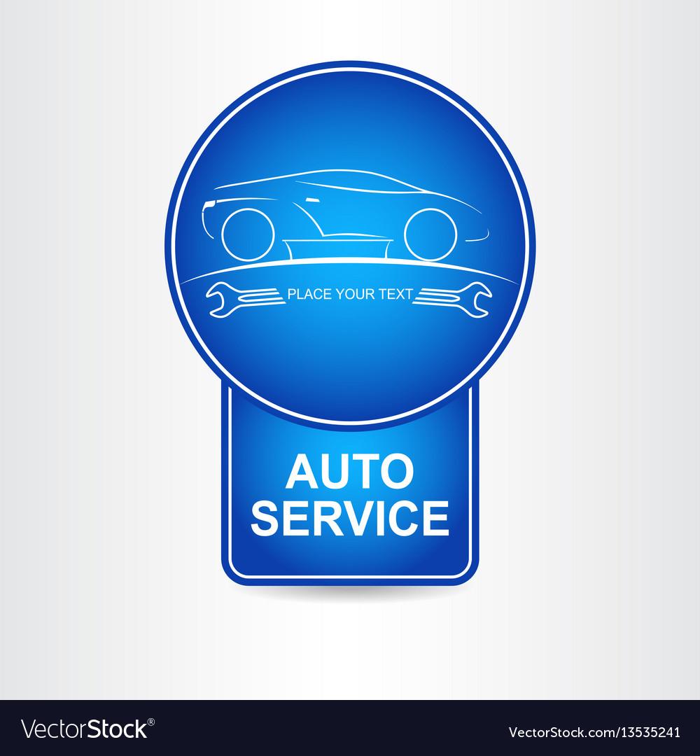 Auto service sign