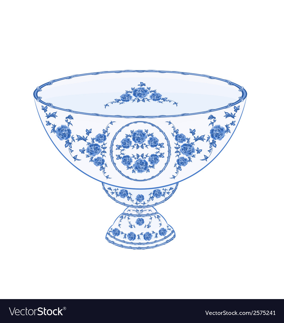 Bowl-of-fruit-faiencet vector image