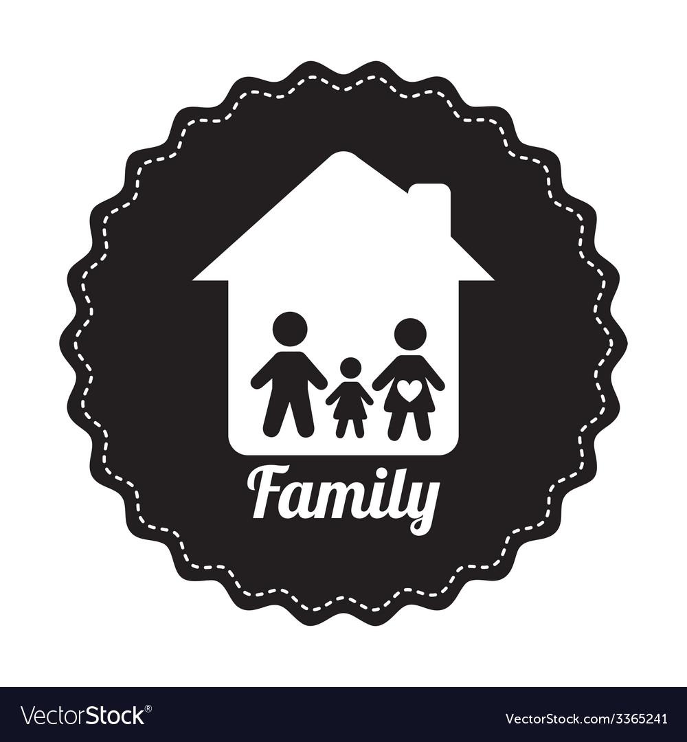 Famly home design Royalty Free Vector Image - VectorStock