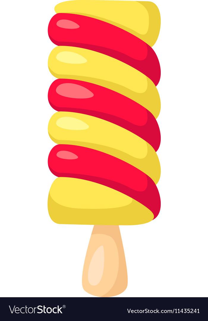 Funny cartoon cute ice cream Isolated