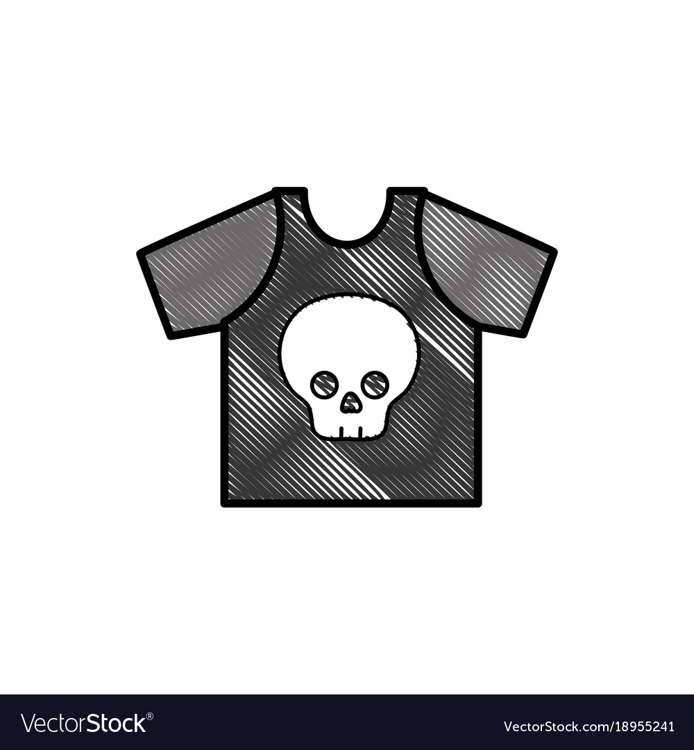 Grated Rock T Shirt With Skull Design Casul Vector Image