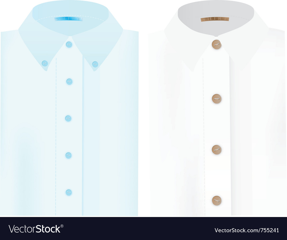 Mens folded shirts vector image