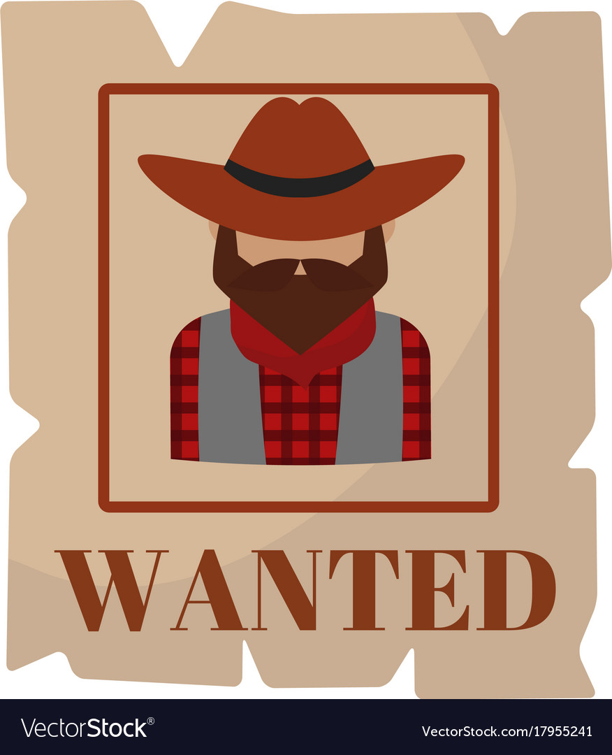 Most wanted man in hat poster concept grunge