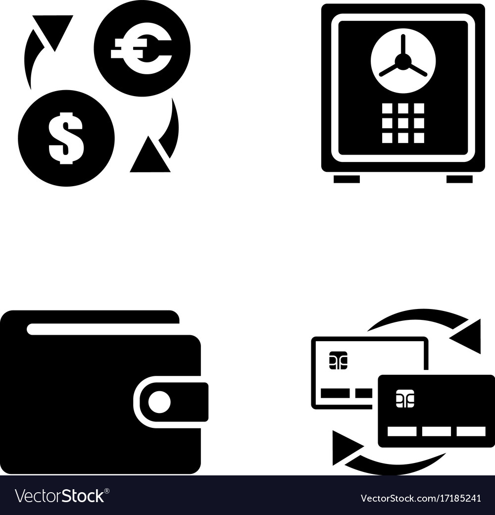 personal finance simple related icons royalty free vector