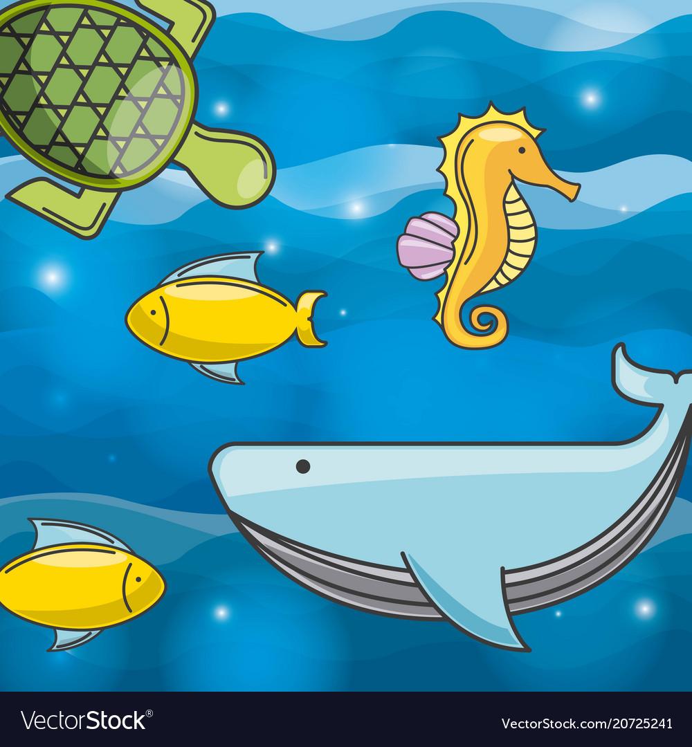 Sea concept design vector image