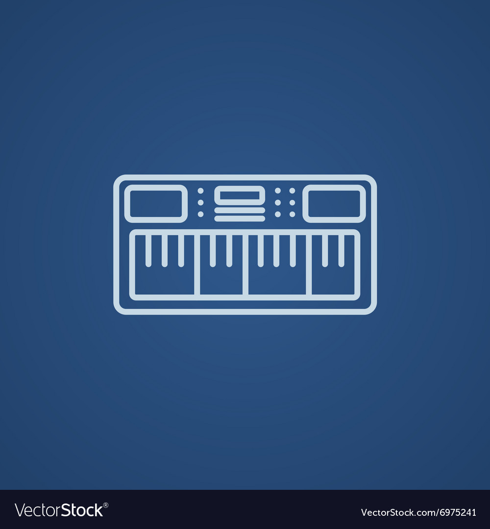 Synthesizer line icon
