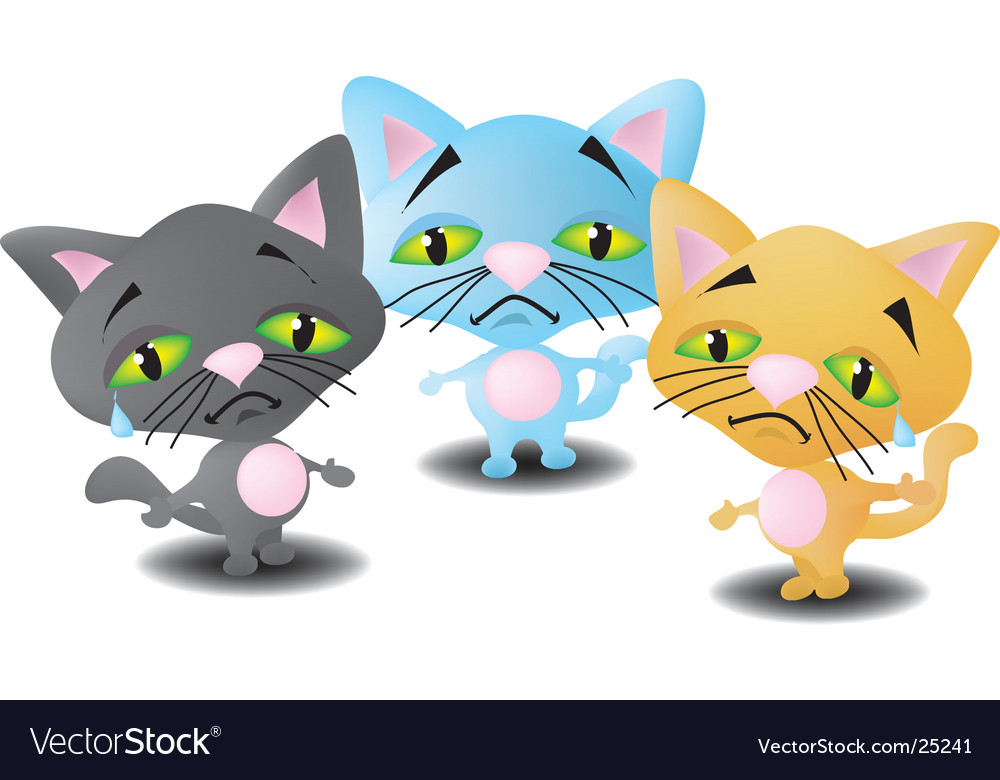 Three little kittens vector image