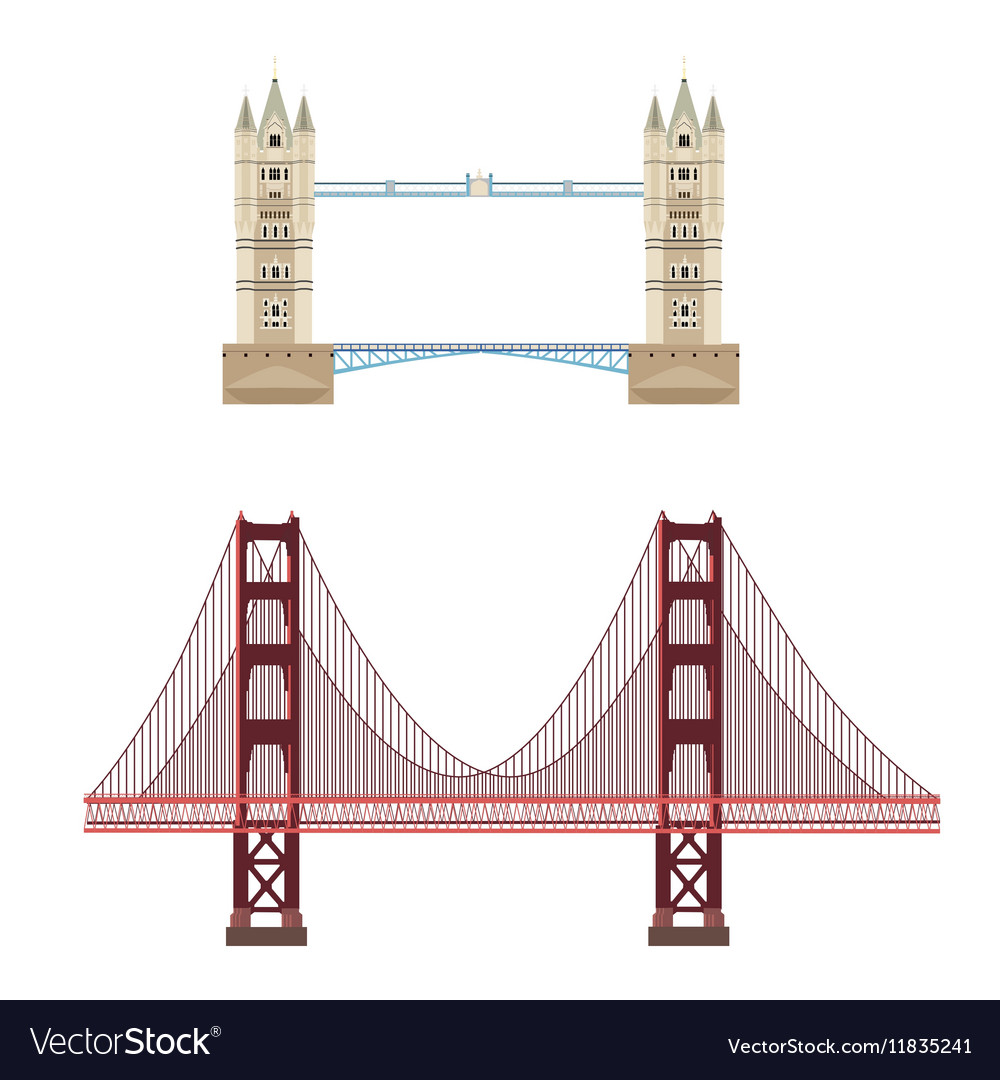 Tower and golden gate bridge