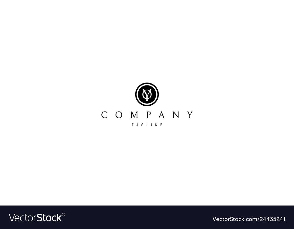 Y and o classic black logo 2 design