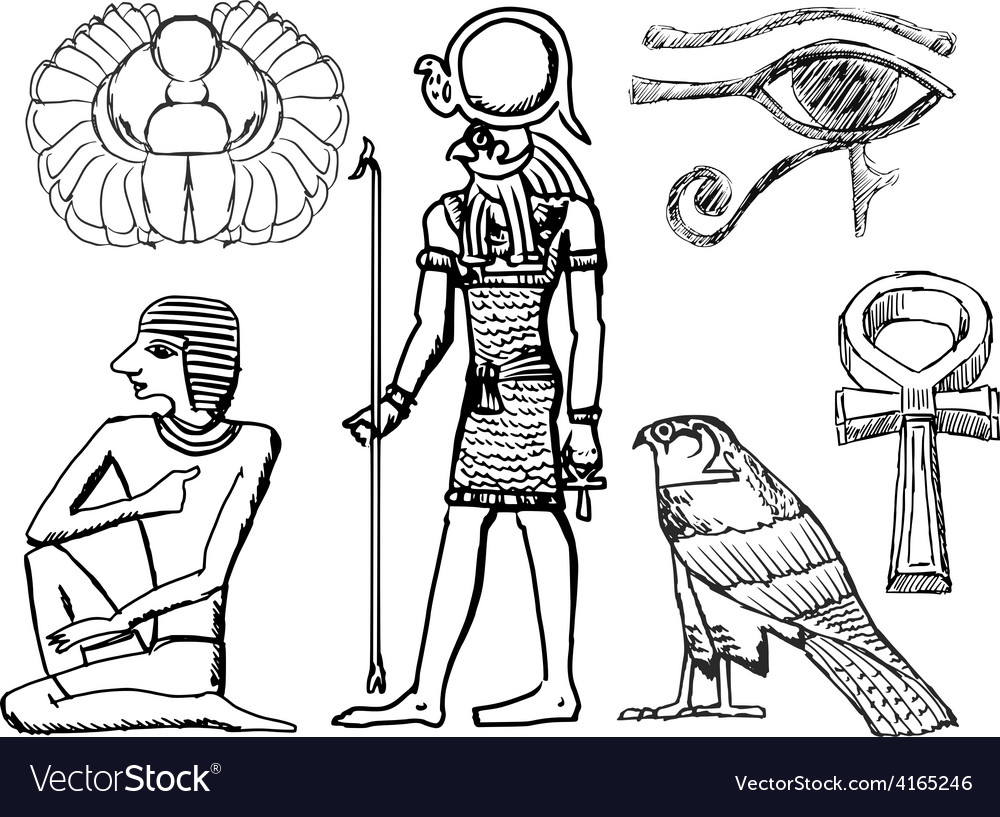 Ancient Egyptian symbols vector image