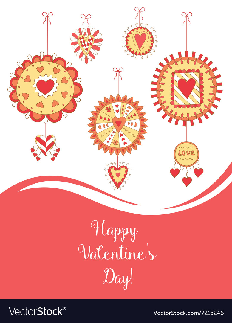 Beautiful Greeting Card for Valentine s Day