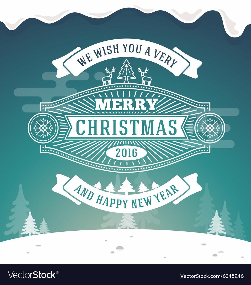 Christmas greeting card vintage design