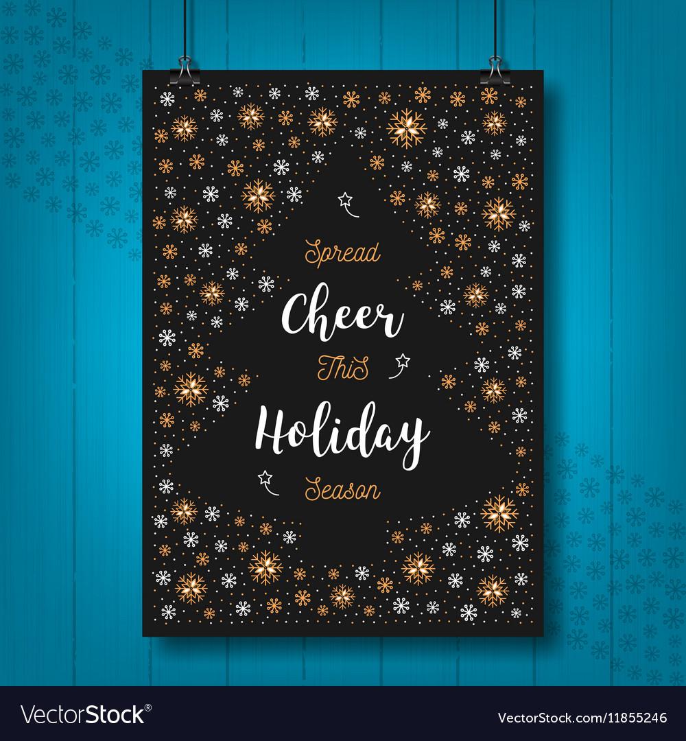 Christmas Holiday Cheer card Xmas poster