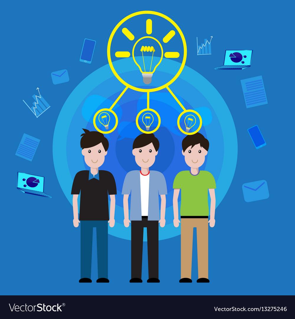 Concept business teamwork brainstorming vector image