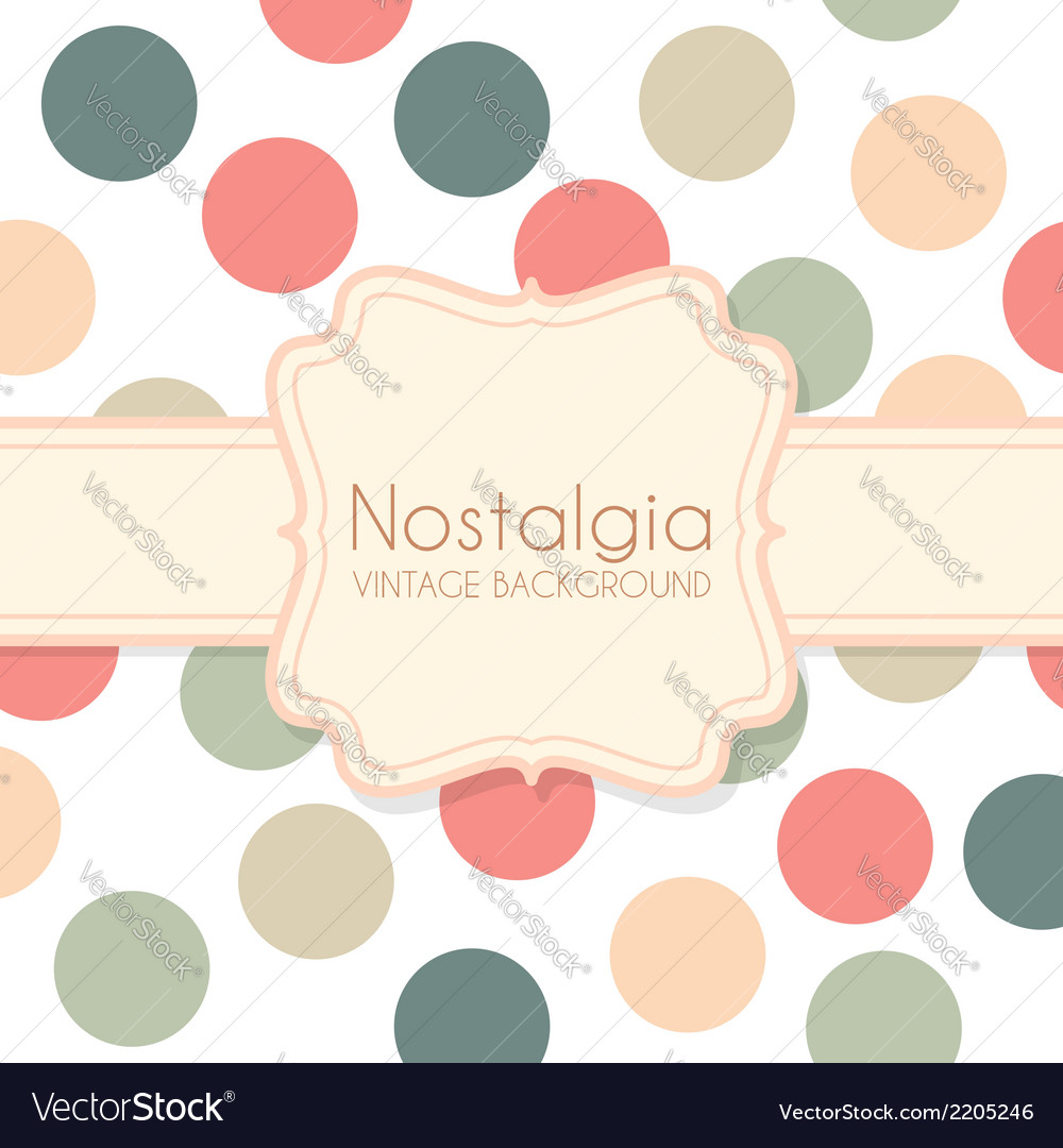 Cute Vintage Background with Frame