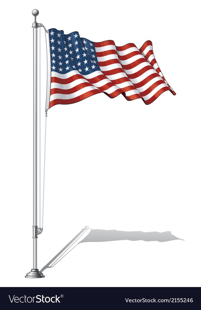 Flag pole us wwi wwii 48 stars