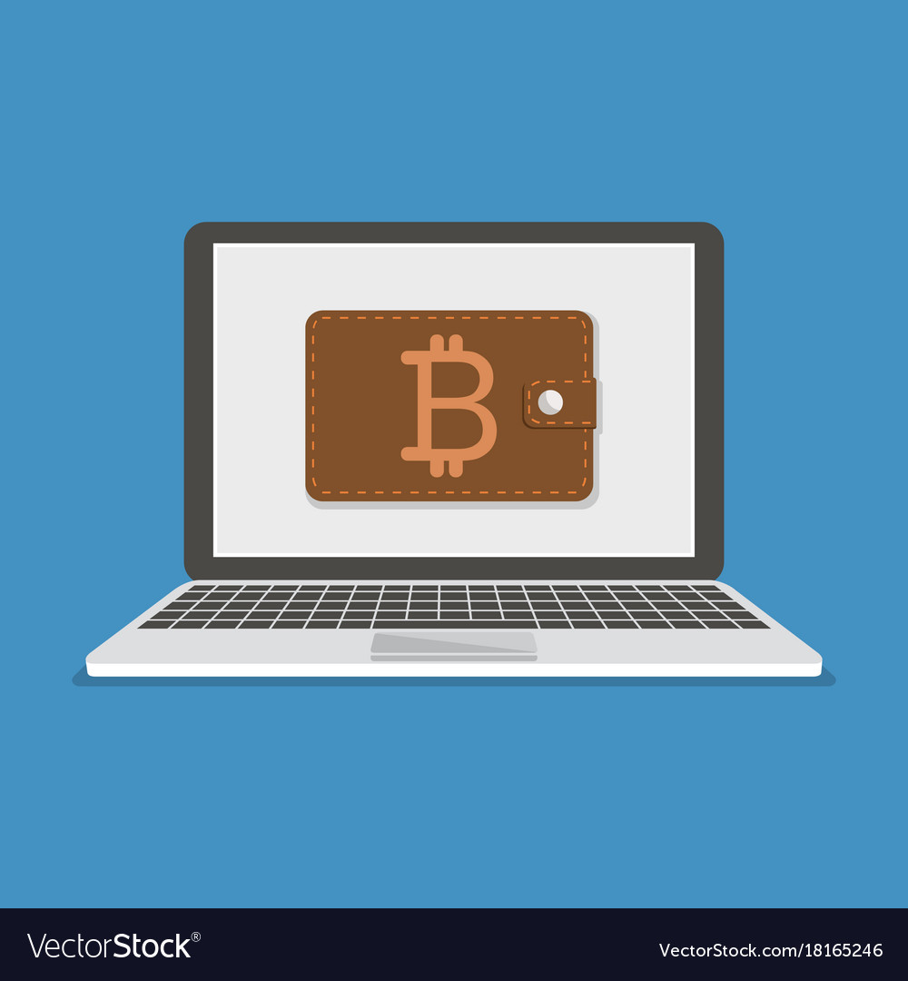 Flat modern design concept of cryptocurrency vector image