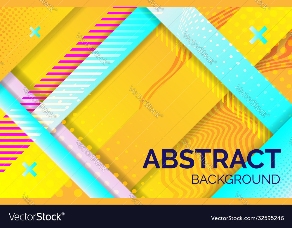 Hipster geometric abstract background yellow blue