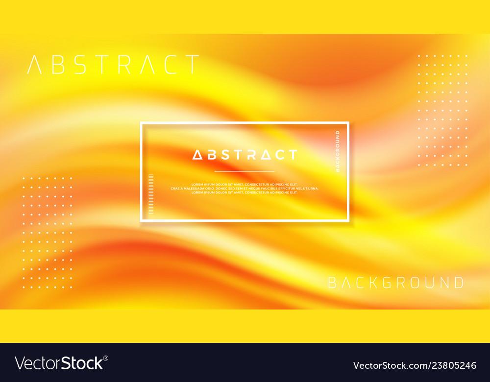 Modern orange liquid wave background