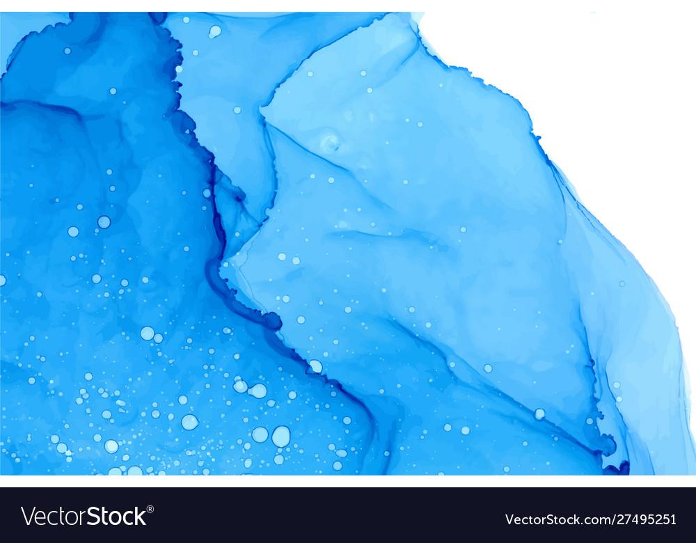 Azure watercolor splashes texture