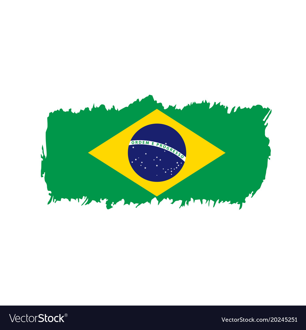 brazil flag royalty free vector image vectorstock rh vectorstock com brazil flag vector free brazil flag vector free