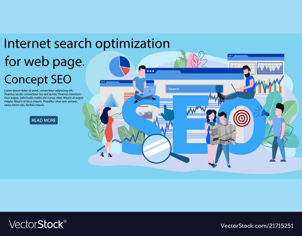 Concept seo market research web site coding