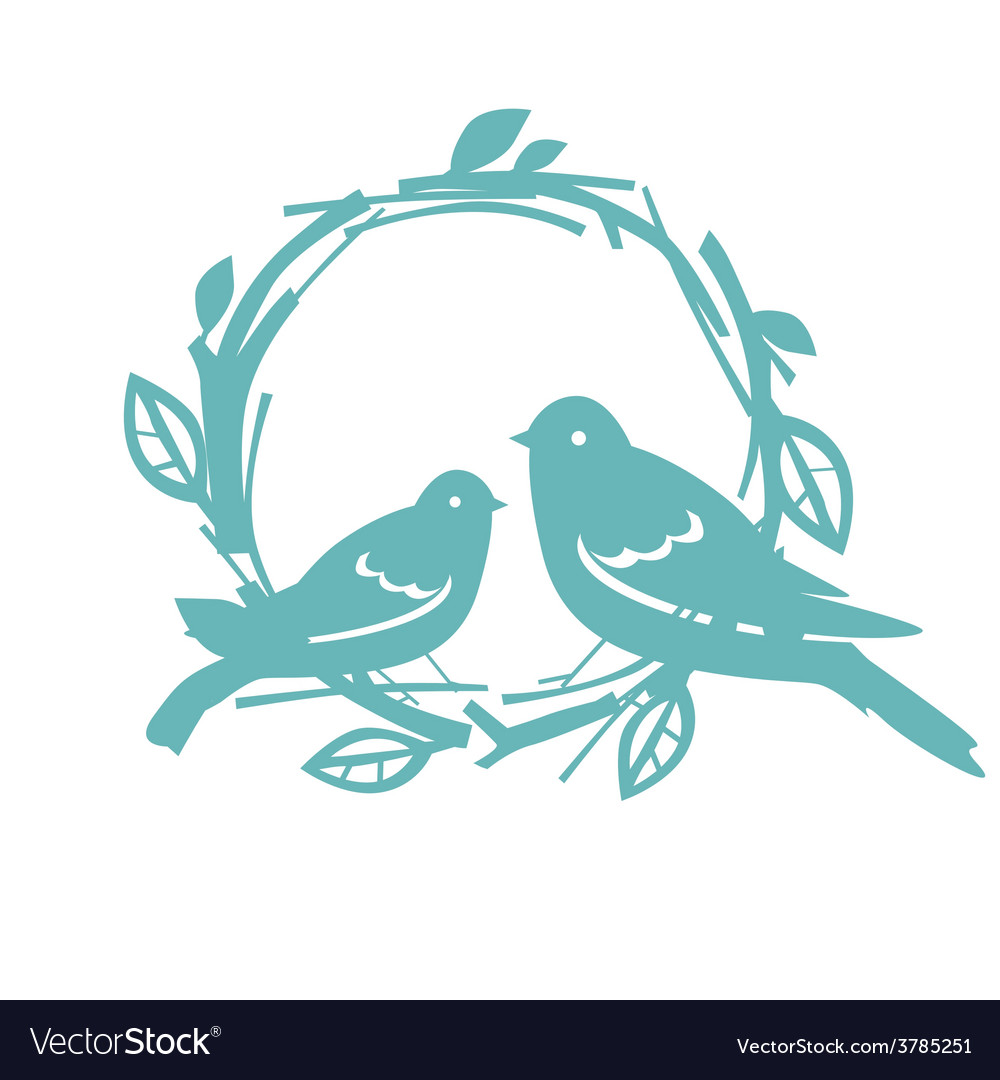 Design with blue birds vector image