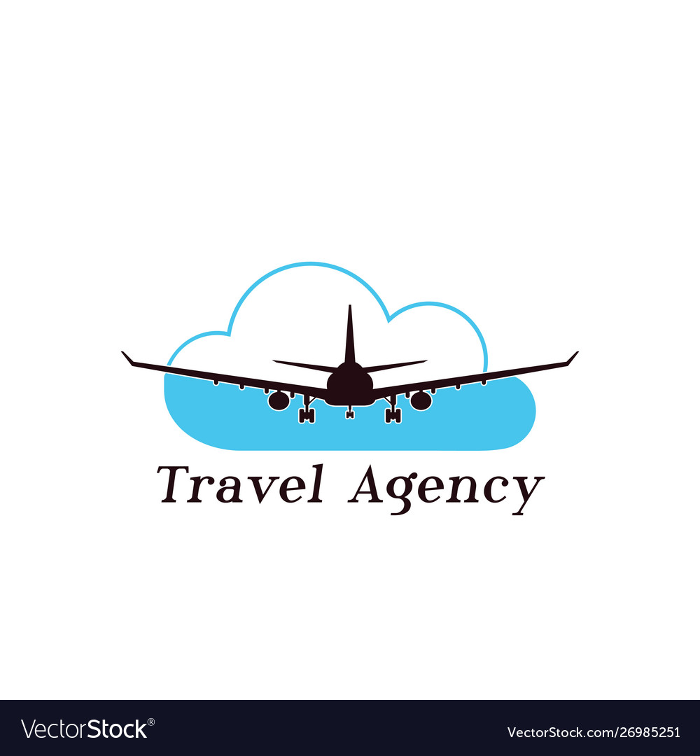 Flying Airplane Logo Design Royalty Free Vector Image