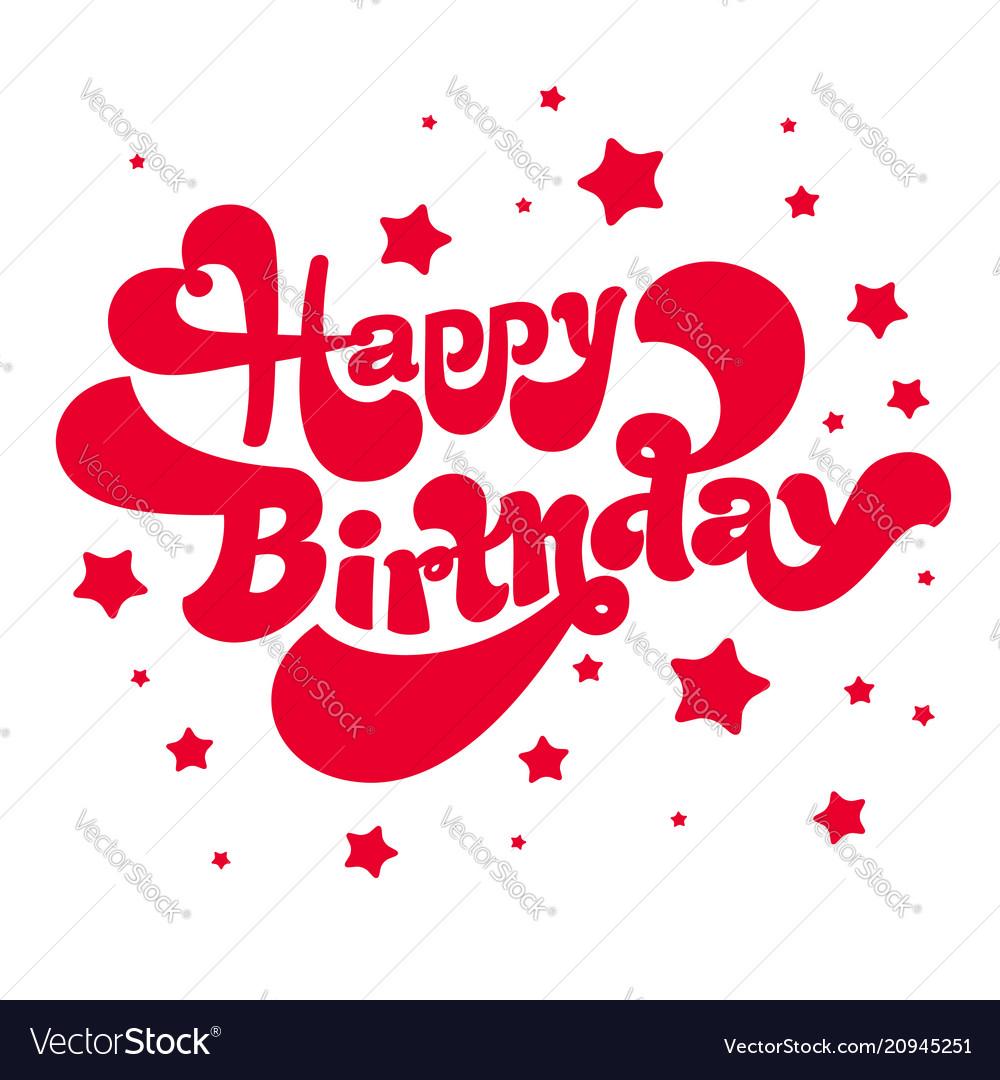 Happy birthday logotype and card