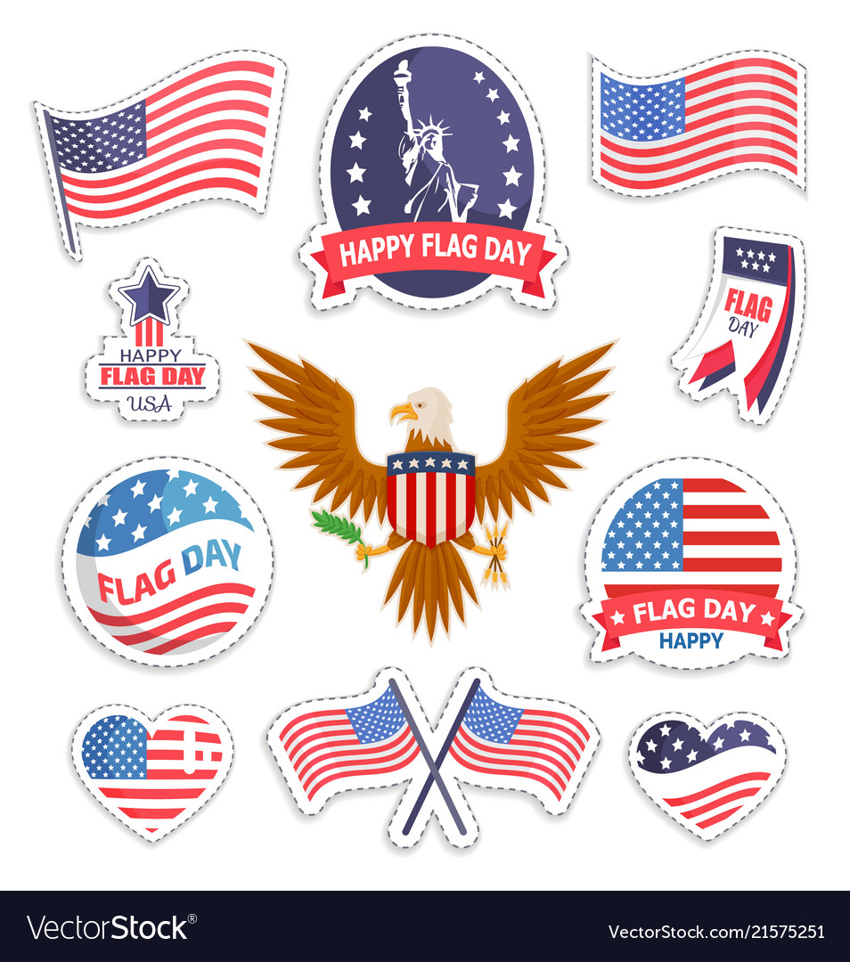 Happy flag day national american holiday banner