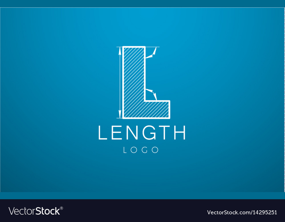 Logo template letter l in the style of a vector image