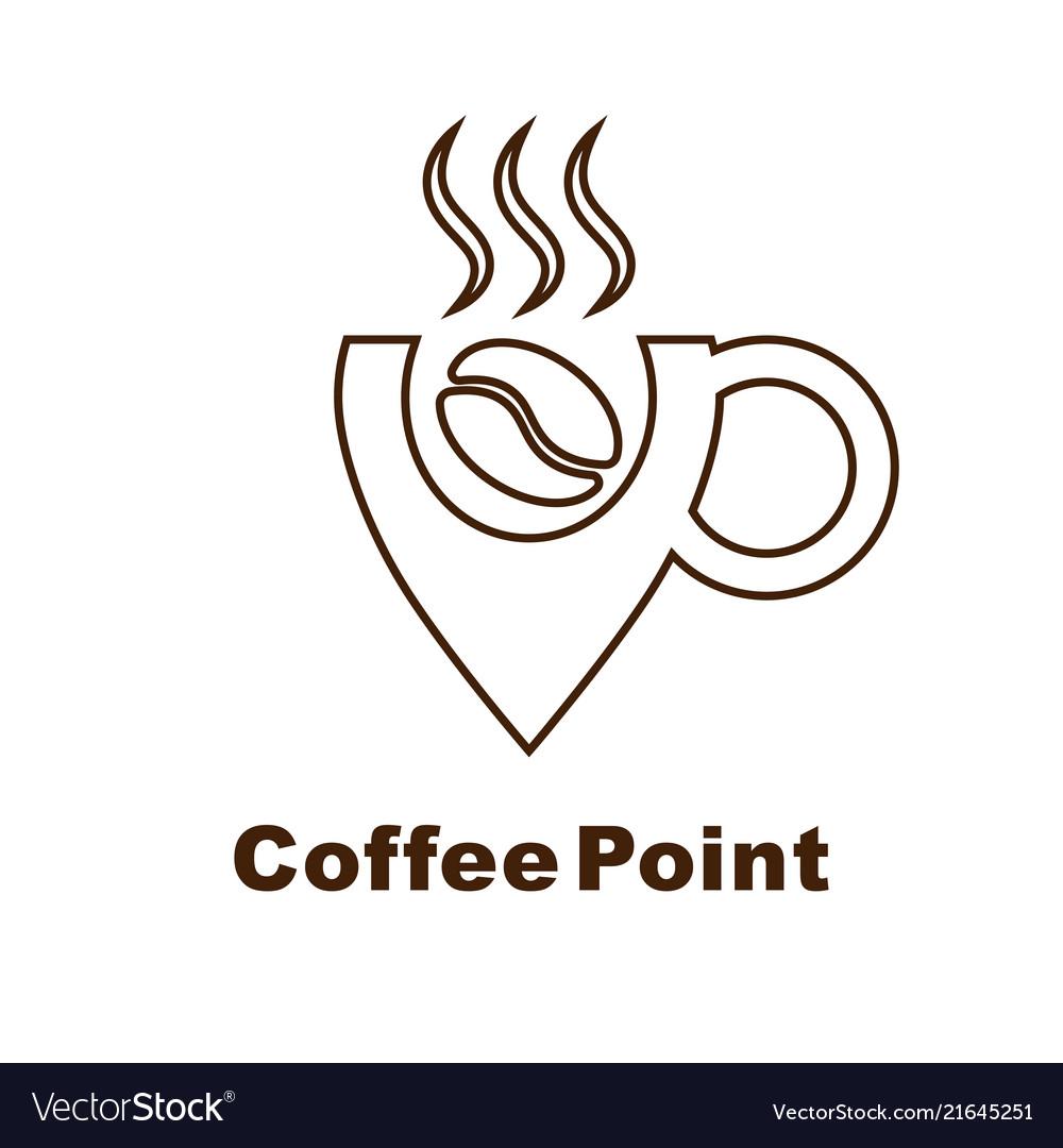 Minimalistic logo for coffee shop logotype