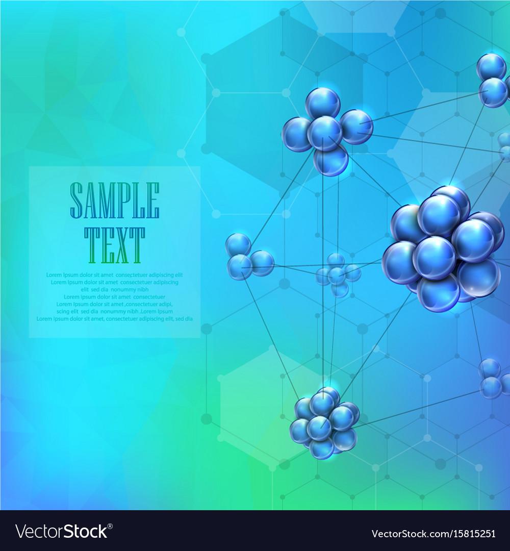 Molecules background concept