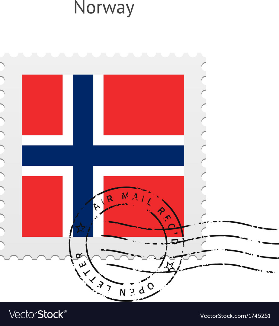 Norway Flag Postage Stamp