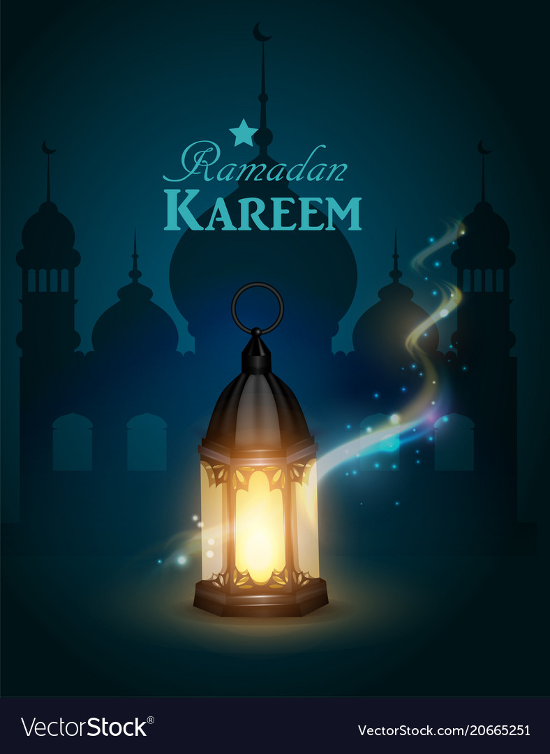 Ramadan Kareem Greeting Background Royalty Free Vector Image