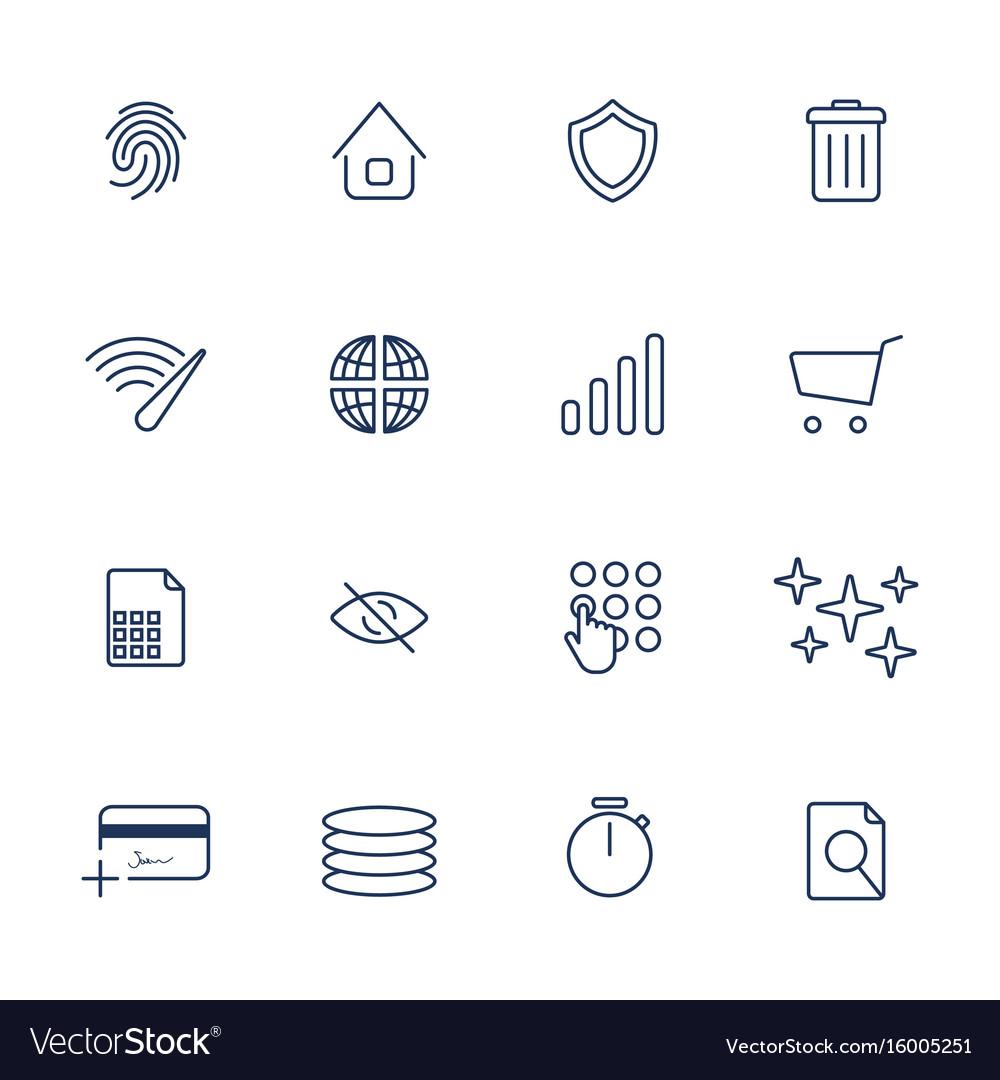 Simple internet icons set universal internet