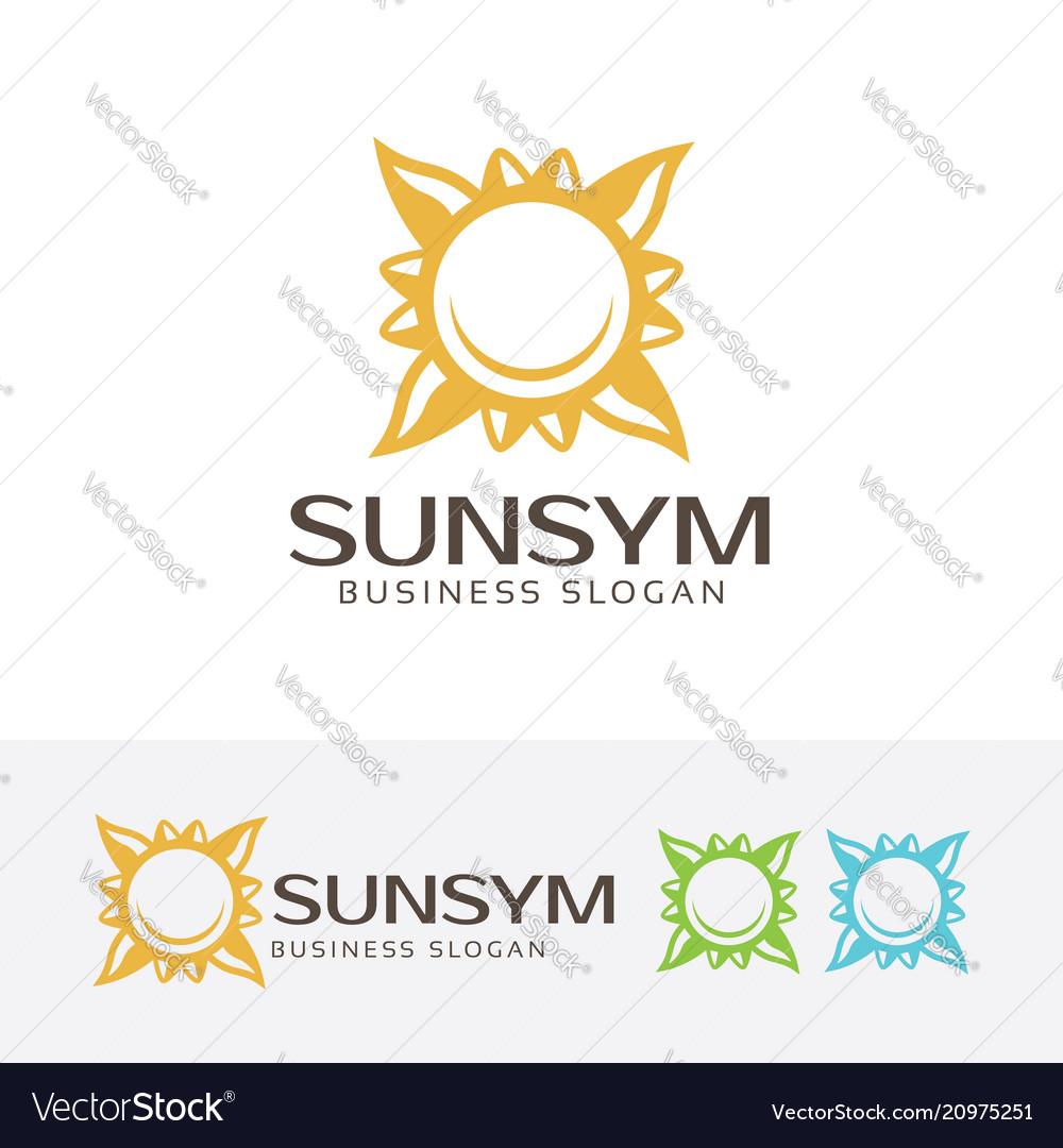 Sun symbol logo design