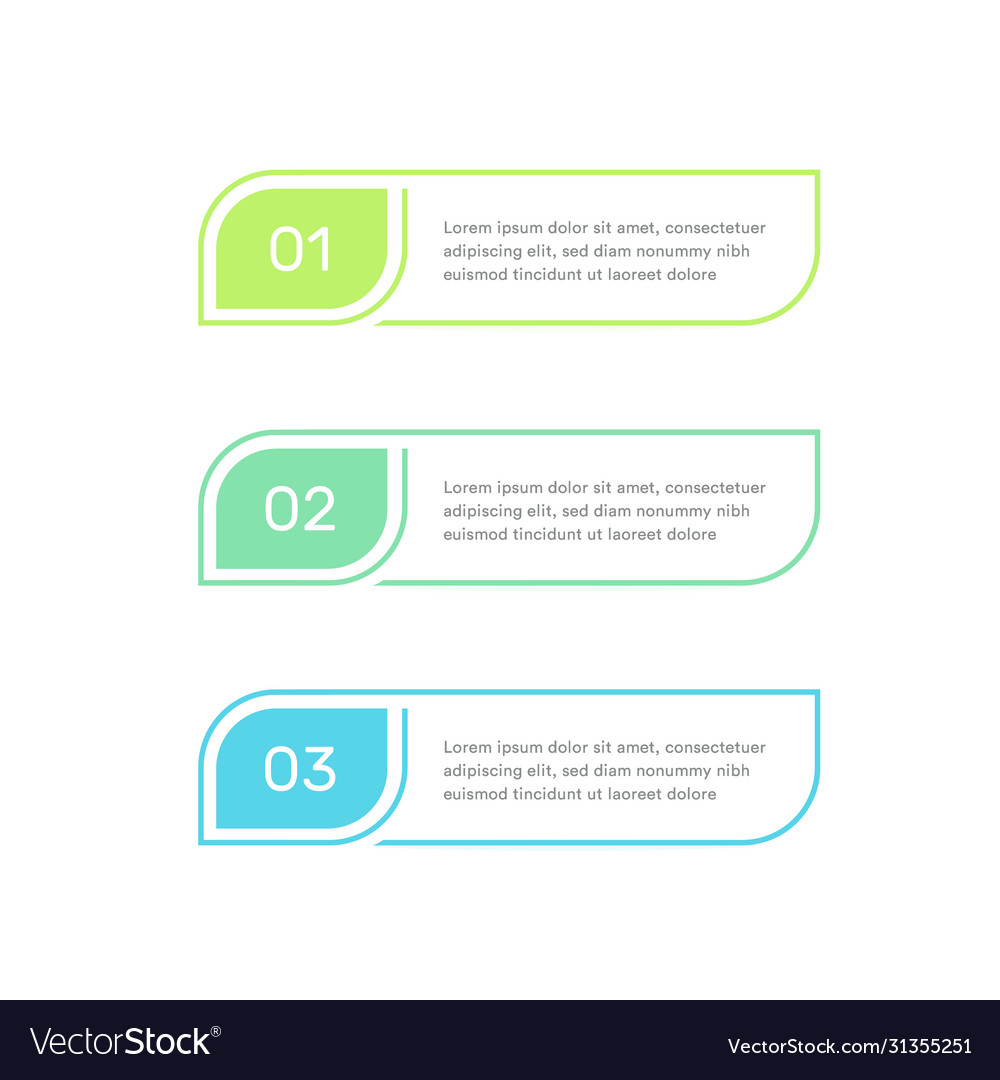 Three steps infographic elements colorful