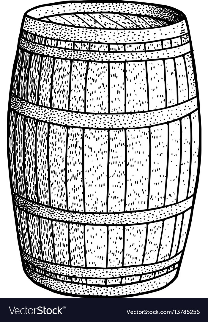 Barrel drawing engraving ink line
