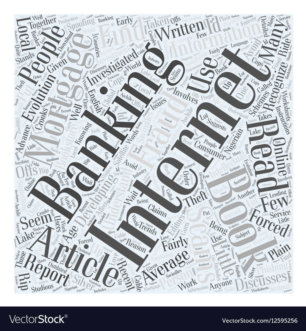 Books on Internet Banking Word Cloud Concept
