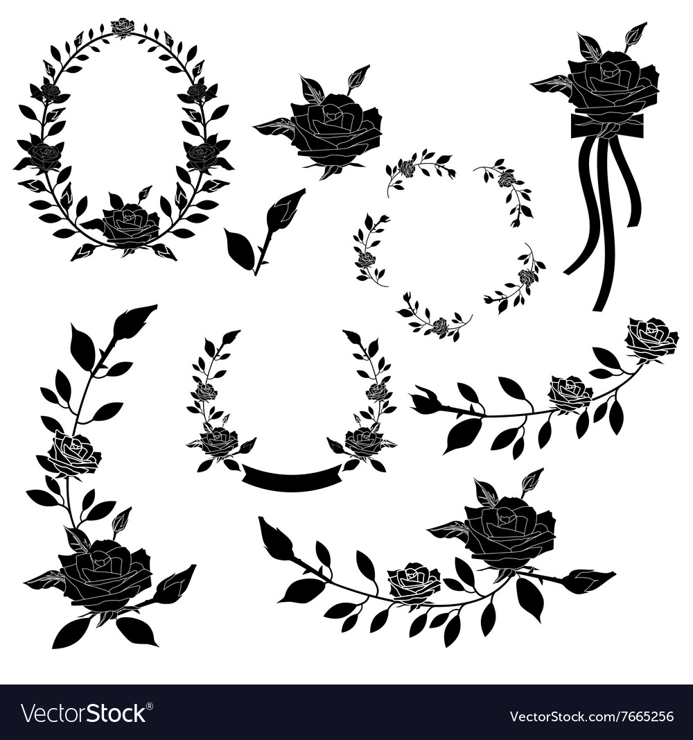 Collection of floral element