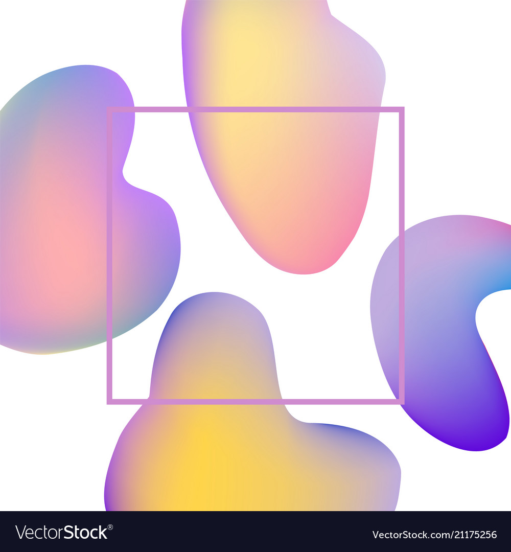 Colorful gradient banner with trendy abstract