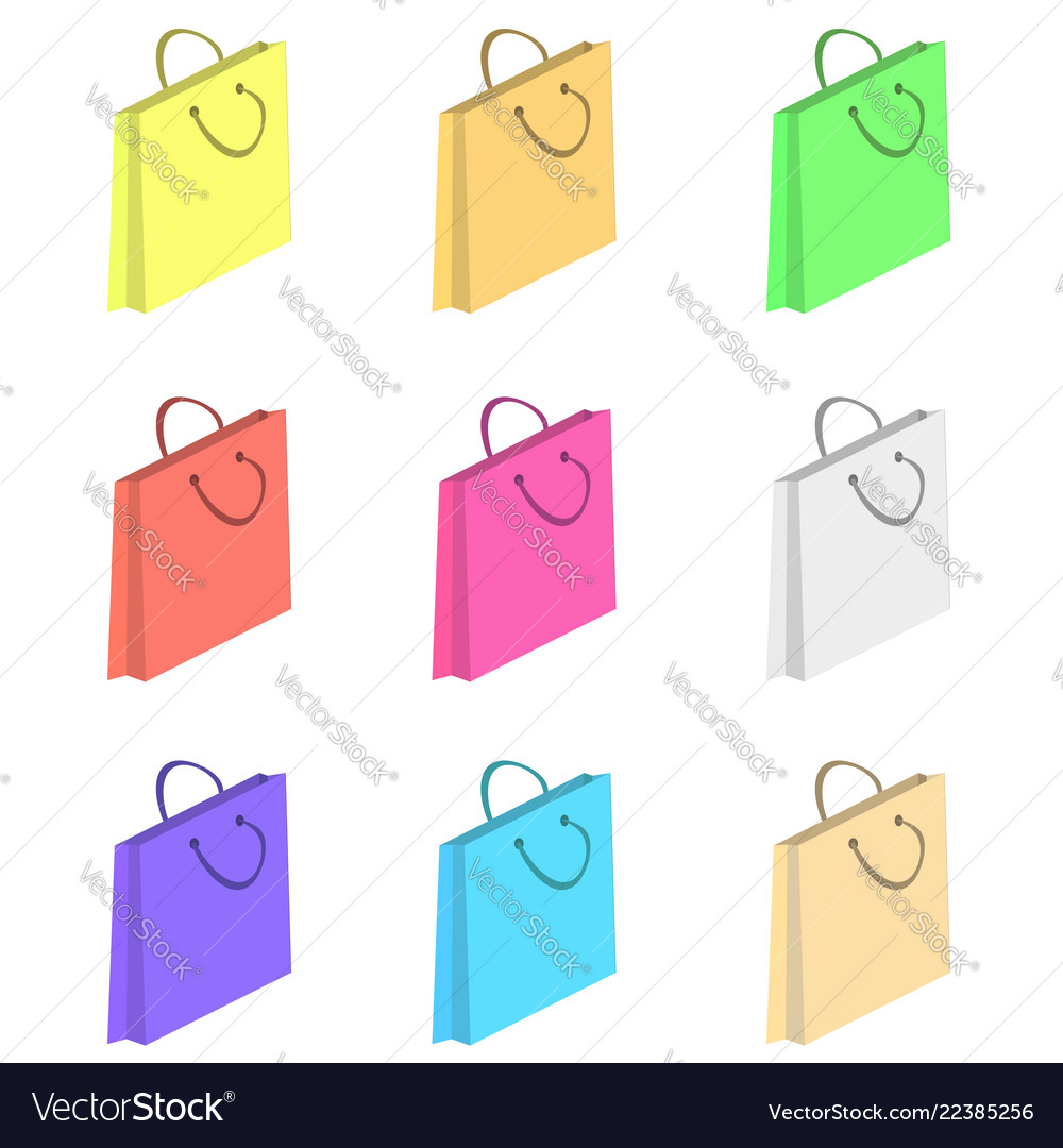Colorful shopping paper bags