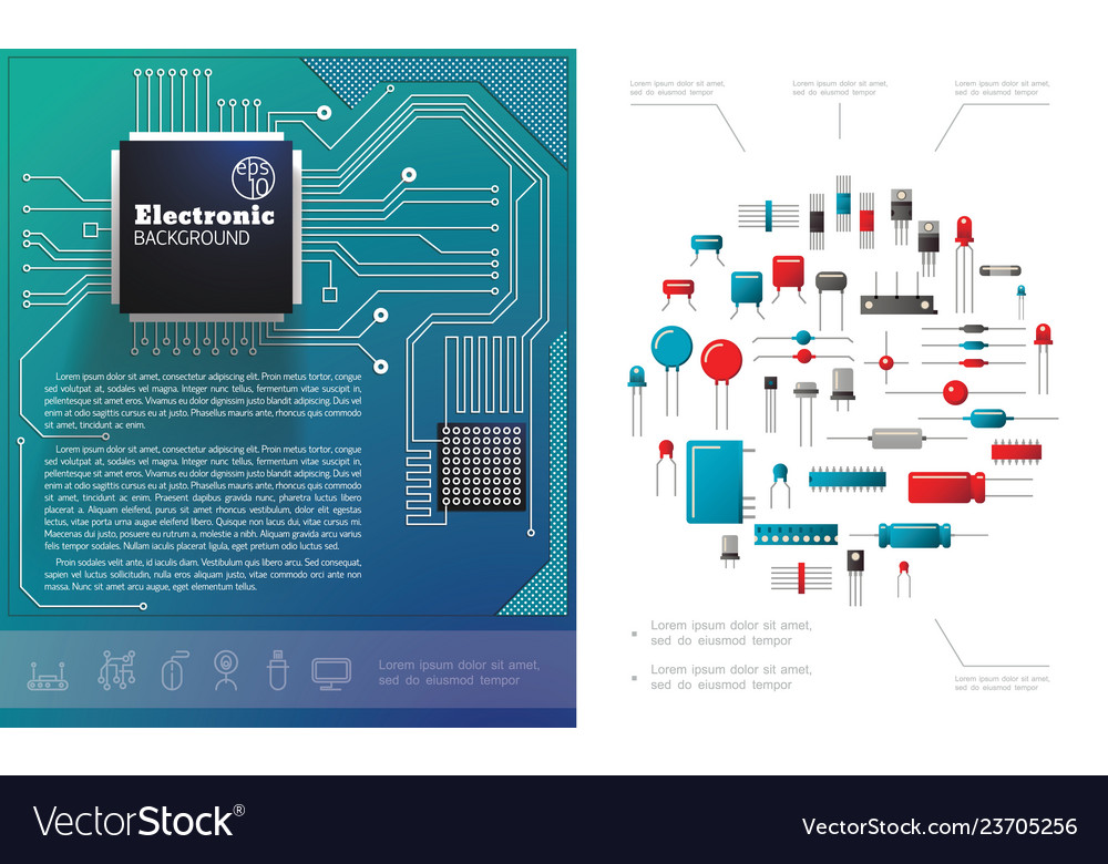 Flat electronic components concept