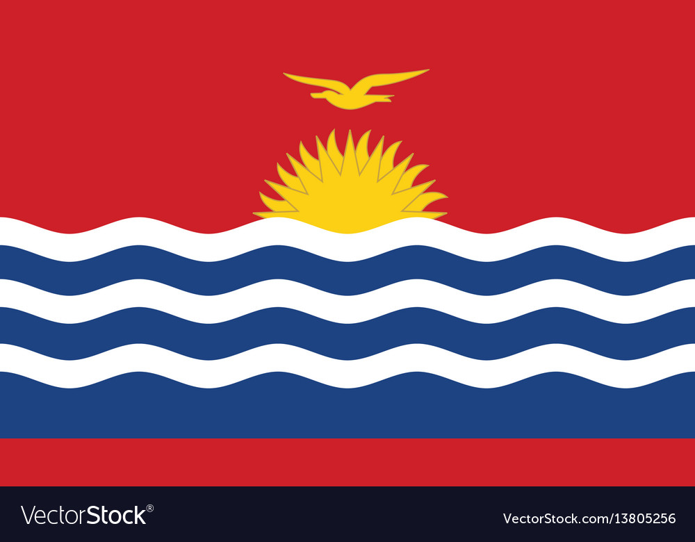 Kiribati flag for independence day and vector image
